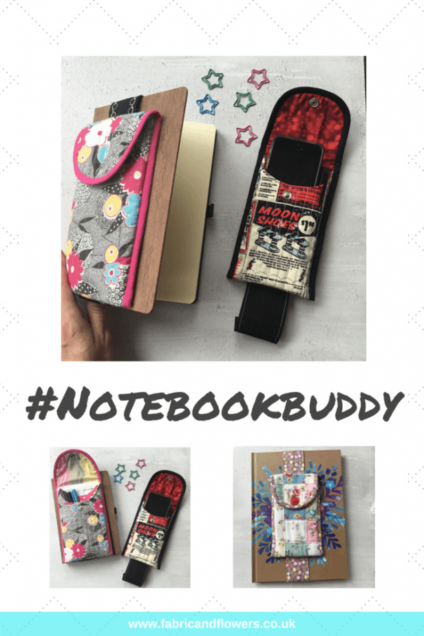 Notebook Buddy Pattern - DIY an organiser for stationery and bullet journal supplies