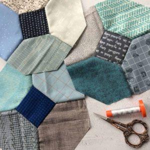 "Wedding quilt: 8"" hand-pieced Kansas Dugout blocks by fabricandflowers | Sonia Spence"