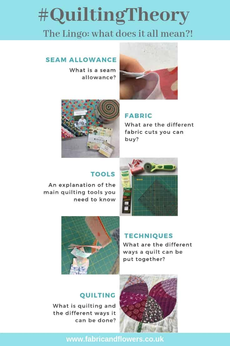 #QuiltingTheory - learn everything you need to know to begin quilting and grow your skills, starting with The Lingo by fabricandflowers | Sonia Spence