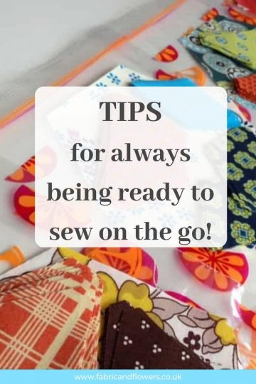 Tips for always being ready to slow-sew on the go