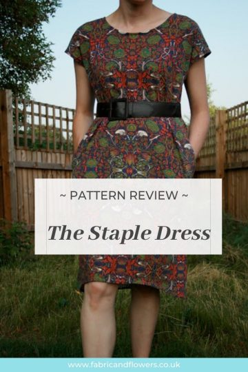 Review of the Staple Dress sewing pattern by April Rhodes made in jersey by fabricandflowers