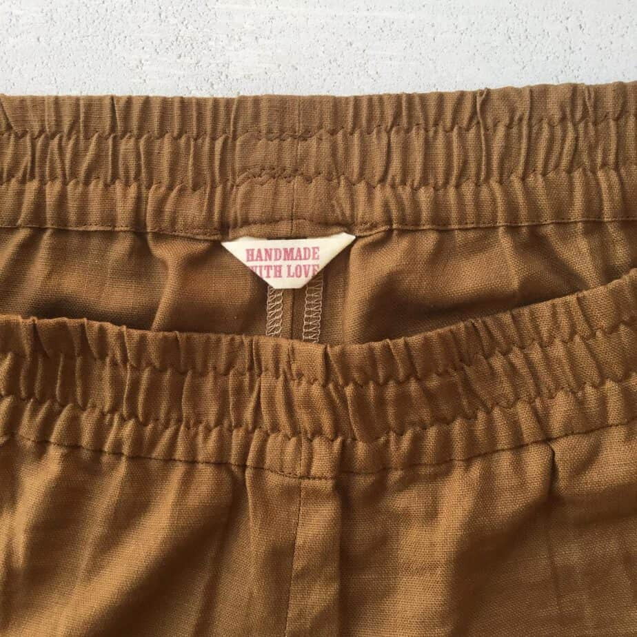 Sewing the Arenite Pants - pattern by Sew Liberated - including simple hacks for slimming down the pocket and reducing the rise for a more fitted look.