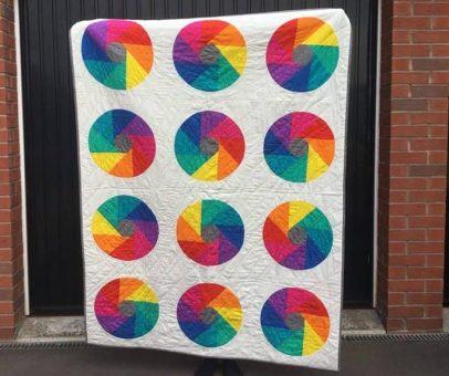 Rainbow Rounds – a Modern, Curvy, Quilt!