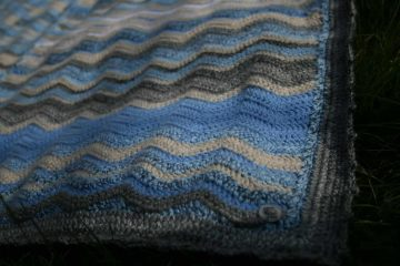 Mindful sewing and creating. A crochet Sky Blanket by fabricandflowers