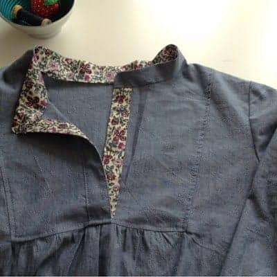 Sewing the Wiksten Tova with hints of Liberty fabric