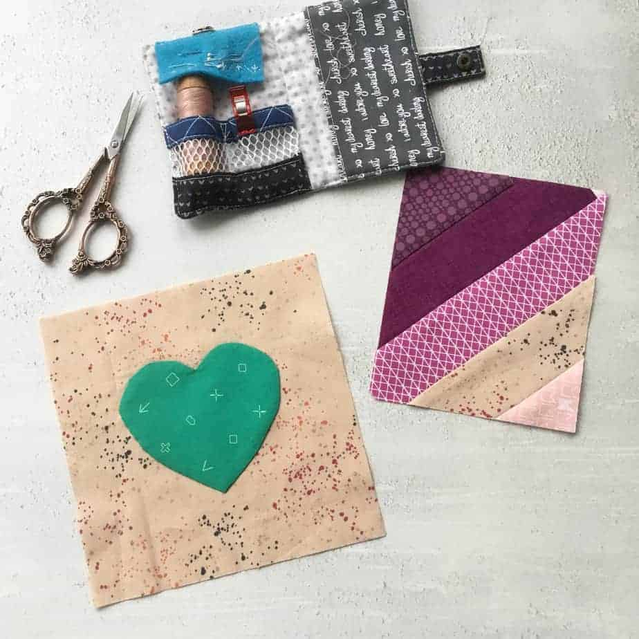 Mini Mindful Modern Sampler Pattern by fabricandflowers - practice slow, mindful sewing and aim to make just one block a day.