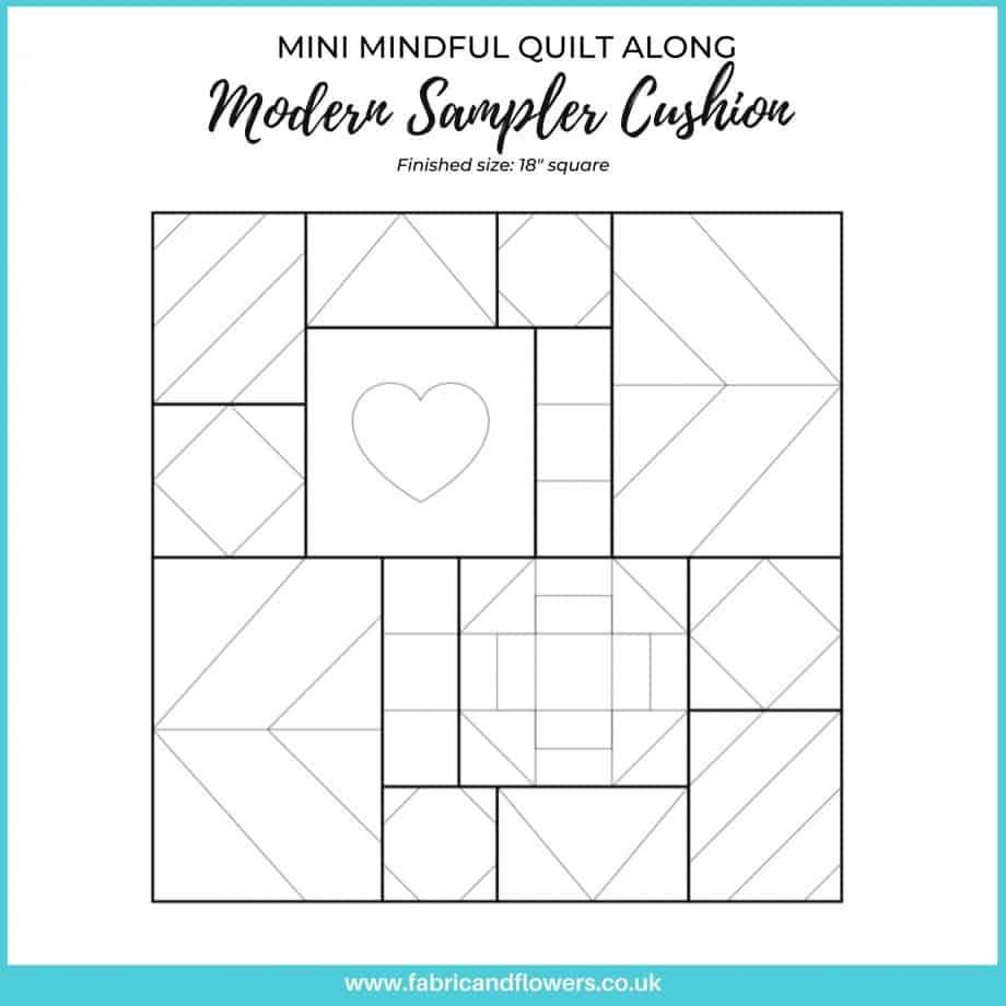 Mini Mindful Quilt Along - Modern Sampler Cushion