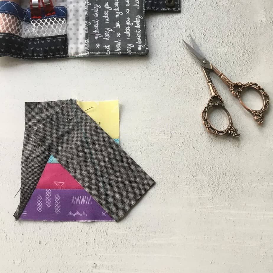 Half Rectangle Triangle Tips and a fun pincushion project