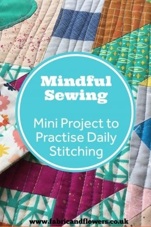 A Modern Sampler Sewing Pattern. A mindful sewing project focused on making just one block a day and practicing daily sewing for just 15-30mins at a time.
