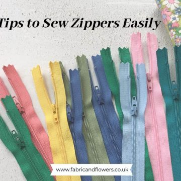 6 tips for how to insert zippers easily and quickly in to projects such as bags, pouches and cushions